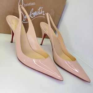 Christian Louboutin clare sling 80 patent